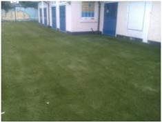 Grass installed and sand dressed